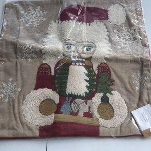 Pottery Barn nutcracker pillow cover